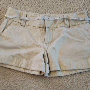 Alice + Olivia sz 8 shimmy brown shorts EUC